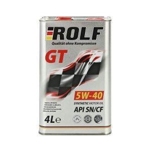 Моторное масло ROLF GT 5W40 SN/CF — 4 л